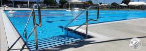 stage 1 pool renovation completed Natare wetdeck gutter