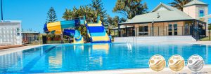 West Beach Parks Pool with waterslides