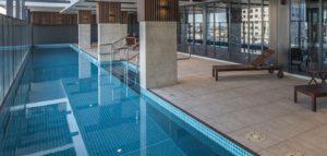 Award winning lap pool west franklin apartments