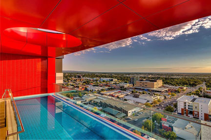 Adelaide central apartments infinity edge pool