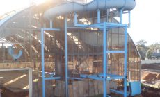 Aquadome Construction images hydrilla