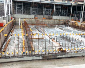 boandik wellness centre therapy pool during construction