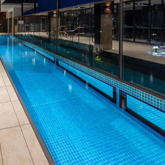 multistorey pool with viewing windows