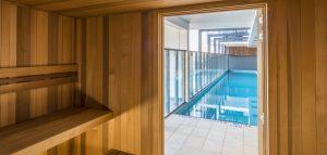 apartment lap pool underwater windows