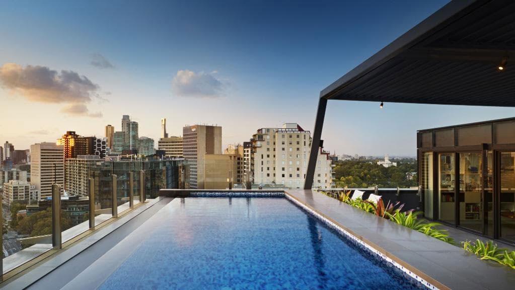 Penthouse apartment pool construction Melbourne